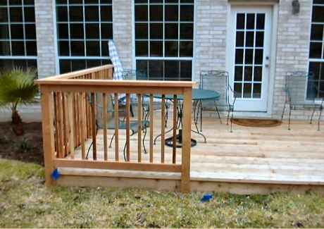 Finished Deck - Railing